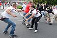 Футбольные фанаты в Варшаве