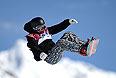 Роопе Тонтери (Финляндия) в финале слоупстайла на соревнованиях по сноуборду среди мужчин на XXII зимних Олимпийских играх в Сочи.