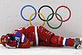 Анна Шохина (Россия) в матче группового этапа между сборными командами России и Германии на соревнованиях по хоккею среди женщин.