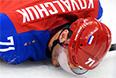 Илья Ковальчук (Россия) в матче группового этапа между сборными командами России и Словакии на соревнованиях по хоккею среди мужчин на XXII зимних Олимпийских играх в Сочи.