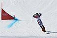 Вик Уайлд в 1/4 финала параллельного гигантского слалома на соревнованиях по сноуборду среди мужчин на XXII зимних Олимпийских играх в Сочи.