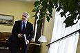 Главный тренер сборной России по хоккею Зинэтула Билялетдинов перед началом заседания Исполкома Федерации хоккея России.
