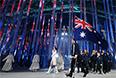 Представители Австралии во время парада атлетов и членов национальных делегаций на церемонии открытия XI зимних Паралимпийских игр в Сочи.