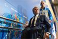 Президент Национального паралимпийского комитета (НПК) Украины Валерий Сушкевич (слева) и член паралимпийской сборной Украины Григорий Вовчинский после пресс-конференции перед началом XI зимних Паралимпийских игр в Сочи.