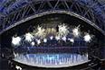 Салют на церемонии открытия XI зимних Паралимпийских игр в Сочи.