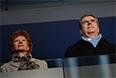 Президент Международного Олимпийского комитета Томас Бах во время театрализованного представления на церемонии открытия XI зимних Паралимпийских игр в Сочи.