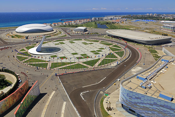 Вид на Олимпийскую площадь Medal Plaza.