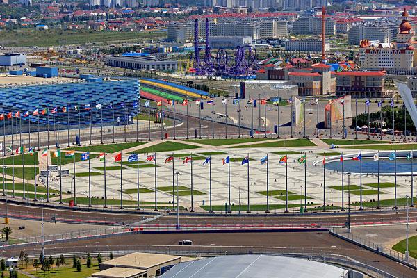 Олимпийская площадь Medal Plaza.