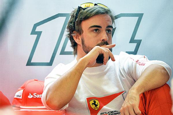 Пилот Ferrari Фернандо Алонсо.