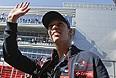Гонщик команды Toro Rosso Даниил Квят на традиционном параде пилотов перед стартом Гран-при России.