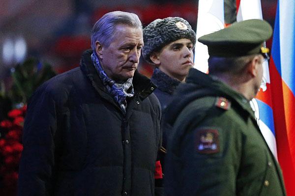 Президент Российской любительской хоккейной лиги (РЛХЛ) Александр Якушев (слева)