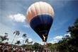 Факелоносец на воздушном шаре в бразильском штате Гояс
