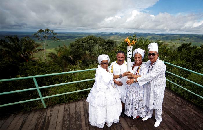 Участиники эстафеты в национальном парке Серра-да-Баррига, штат Алагоас