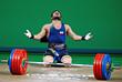 Иранский тяжелоатлет Киануш Ростами (до 85 кг). Мировой рекорд по сумме упражнений  - 396кг