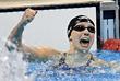 Американка Кэти Ледеки в женском заплыве на 400 м вольным стилем установила рекорд 3 минуты 56,46 секунды, а на дистанции 800 м - 8 минут 04,79 секунды