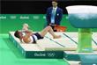 Французский гимнаст Самир Аит Саид сломал левую ногу во время выполнения опорного прыжка