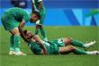 Иракский футболист Натиг Суад получил травму во время матча против сборной Южной Африки