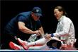 Румынка Симона Герман получила травму во время командных соревнований по фехтованию на шпагах среди женщин