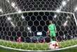 Вратарь сборной РФ Игорь Акинфеев после пропущенного гола в матче между сборными России и Бельгии