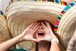 Футбольная фанатка из Мексики