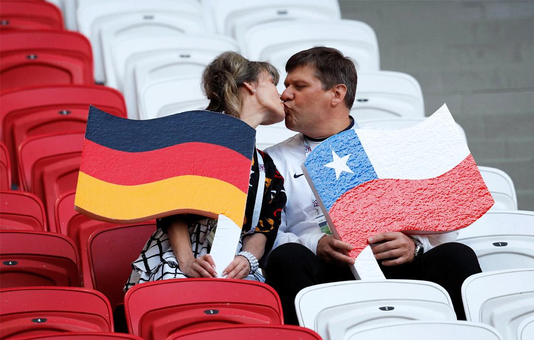 Во время матча между сборными Чили и Германии в Казани