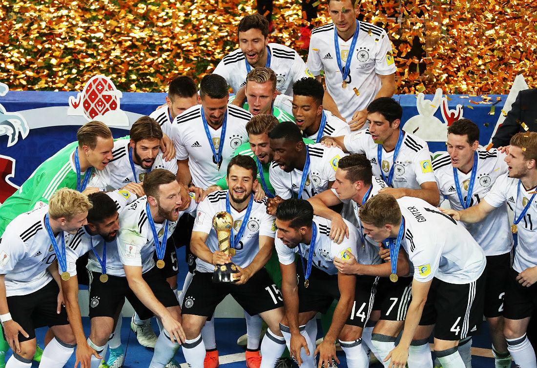 Футболисты сборной Германии завоевали Кубок конфедераций впервые в своей истории