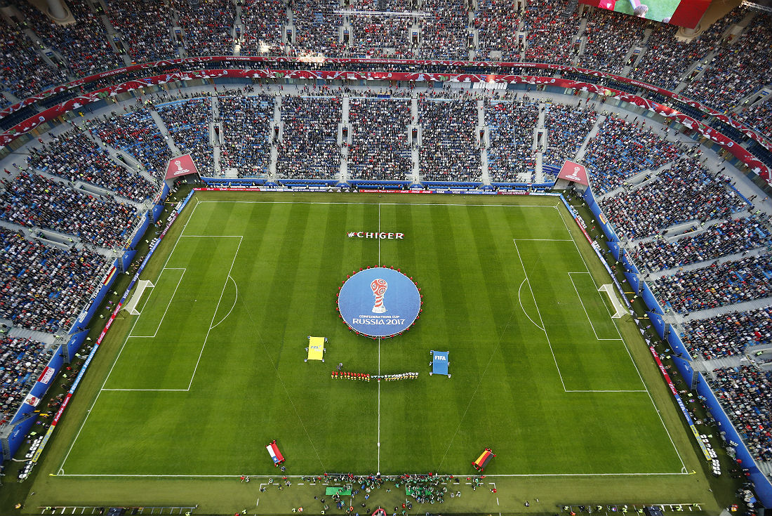 Финальный матч Кубка конфедераций прошел в Санкт-Петербурге