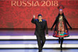 Аргентинский футболист Диего Марадонна на церемонии жеребьевки