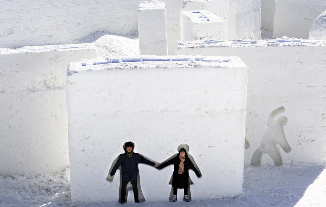 Снежный фестиваль в Пхенчхане