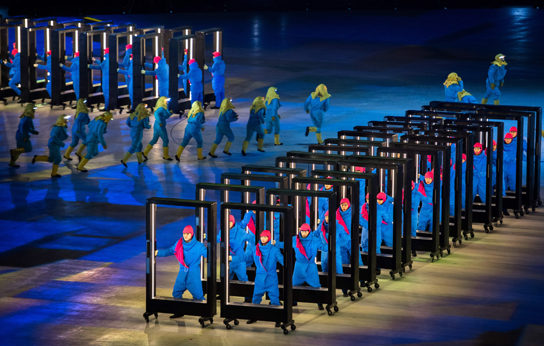 На церемонии открытия олимпийского праздника