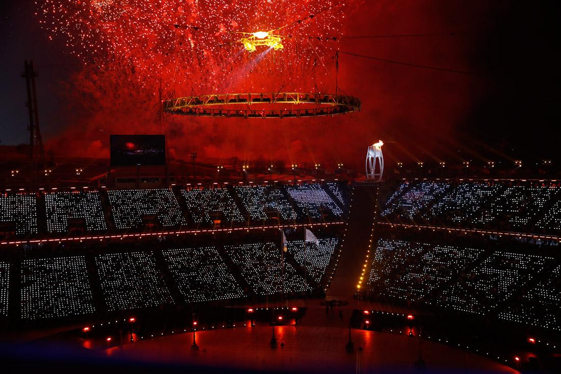 Церемония зажжения огня Зимних Олимпийских игр