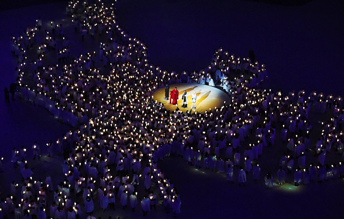 """Исполнение легендарной песни Джона Леннона """"Imagine"""" на церемонии открытия Олимпиады"""