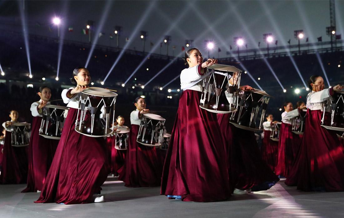 Во время открытия Зимних Олимпийских игр