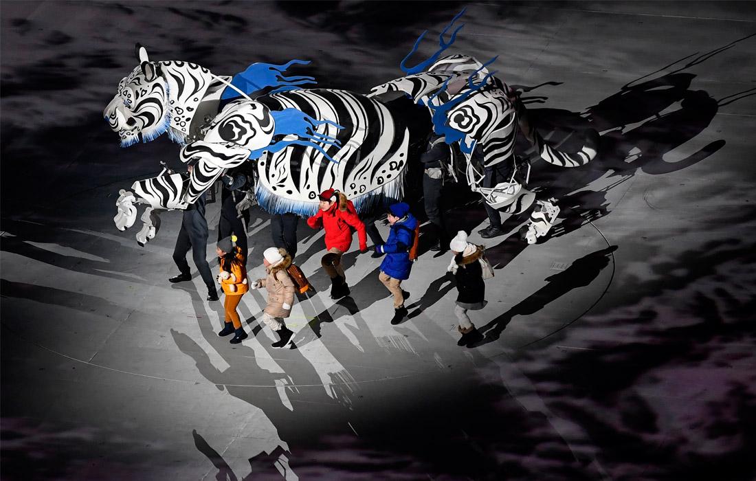 Театрализованное представление на церемонии открытия XXIII зимних Олимпийских игр в Пхенчхане