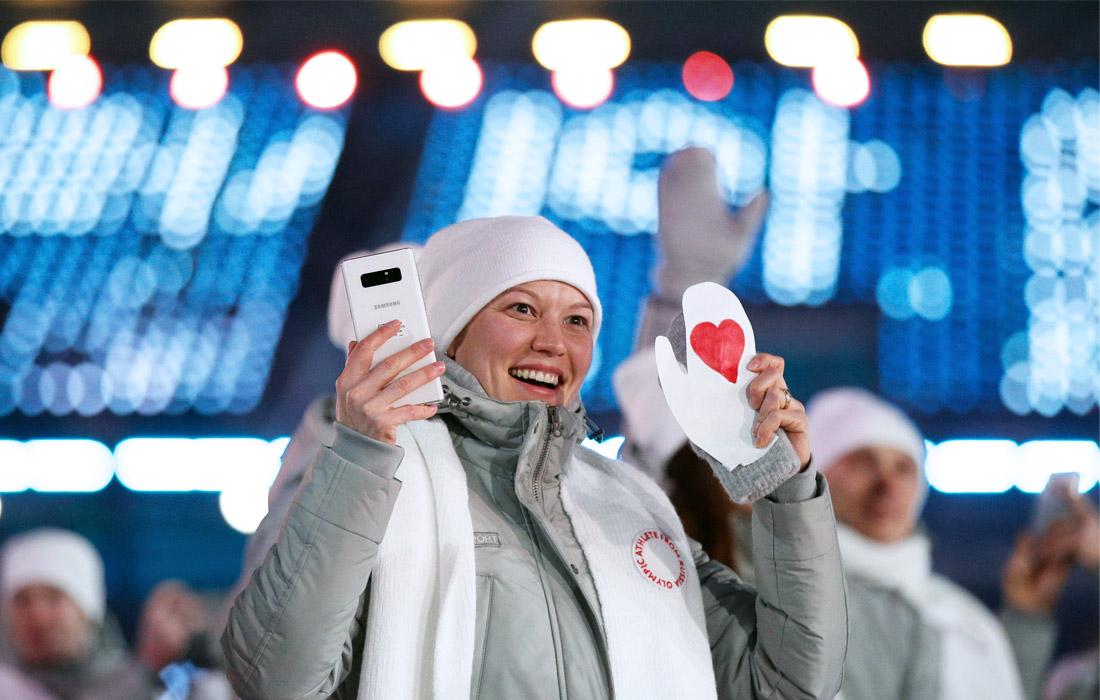 Участница команды олимпийских атлетов из России