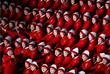 Болельщицы из КНДР на церемонии открытия XXIII Зимних Олимпийских игр
