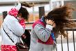 Сильный ветер в Олимпийском парке в Канныне