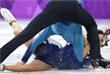 Американцы Мэдисон Чок и Эван Бэйтс во время произвольной программы в танцах на льду
