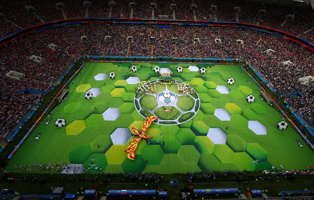 "Во время церемонии открытия чемпионата мира по футболу на стадионе ""Лужники"""