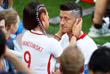 Супруга польского футболиста Роберта Левандовски Анна поддерживает мужа после поражения от Сенегала