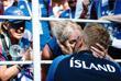 Главный тренер сборной Исландии Хеймир Хадльгримссон с женой Айрис после окончания матча группового этапа чемпионата мира по футболу между сборными командами Аргентины и Исландии