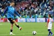 Игрок сборной Хорватии Иван Перишич с сыном после матча между Аргентиной и Хорватией