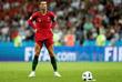 Португальский футболист Криштиану Роналду во время матча с Испанией