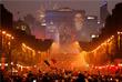 Портрет игрока сборной Франции Антуана Гризманн на Триумфальной арке