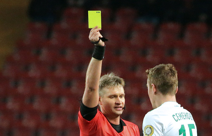 УЕФА отстранил российского судью Лапочкина на 90 дней
