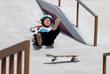 Преставительница Японии Фуна Накаяма во время соревнований по скейтбордингу
