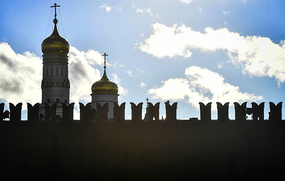 Ураганный ветер повредил зубец кремлевской стены