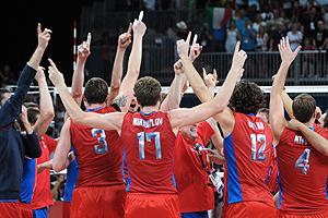 Волейболисты - олимпийские чемпионы
