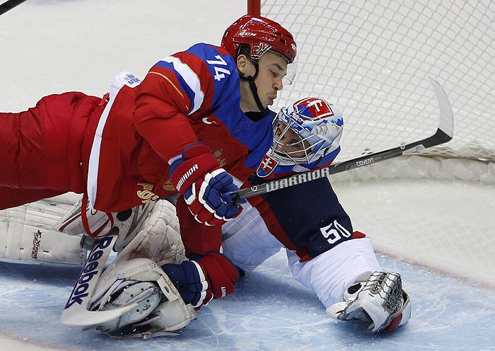 Сборная России по хоккею обыграла Словакию