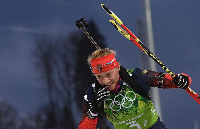 Российские биатлонистки завоевали серебро в эстафете